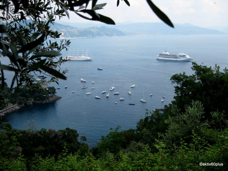 Erster Blick Ankunft Portofino