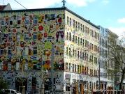 Fantasievolle Häuserfassaden