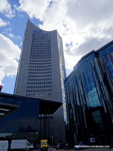 """City Hochhaus, 142 Meter - von den Leipzigern auch """"Weisheitszahn"""" genannt"""